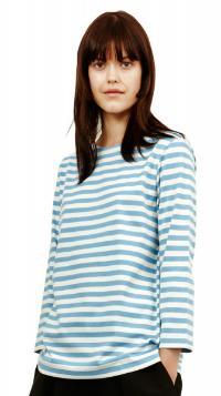 Marimekko Tasaraita Ilma T-Shirt hellblau weiss limitiert