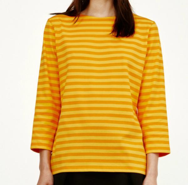 Marimekko Tasaraita Ilma T-Shirt orange gelb limitiert