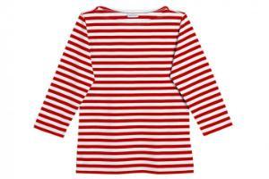 Marimekko Tasaraita Ilma T-Shirt rot weiss