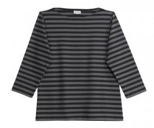 Marimekko Tasaraita Ilma T-Shirt schwarz grau