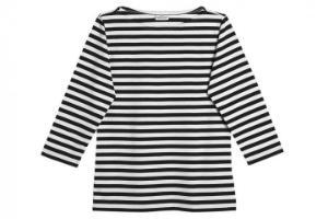 Marimekko Tasaraita Ilma T-Shirt schwarz weiss