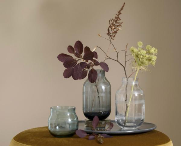 Kaehler Design Omaggio Vase Glas Hoehe 14 cm