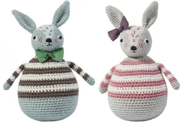 Sebra Stehaufmaennchen Kaninchen gehaekelt