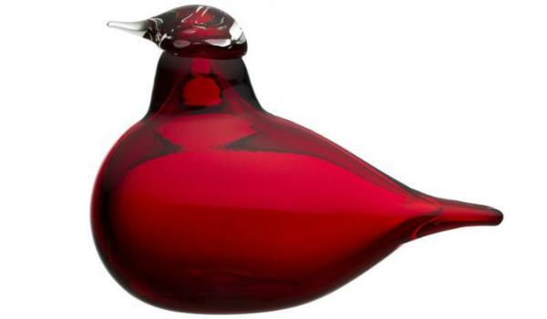 Iittala Birds by Toikka Kleiner Stern cranberryrot