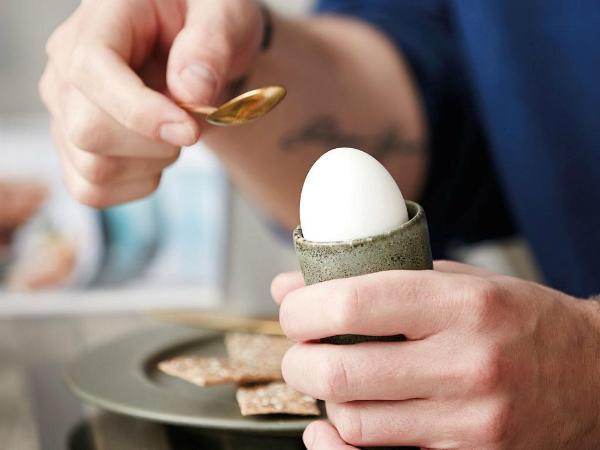 Bitz-Steingut-einfarbig-Eierbecher