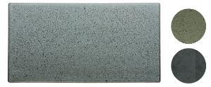 Bitz-Steingut-einfarbig-Platte-16x30-cm