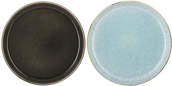 Bitz-Steingut-zweifarbig-Teller-grau-OE-21-cm