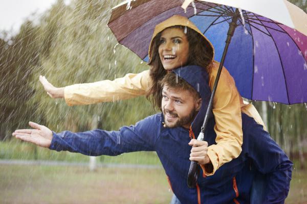 Mit dem passenden Regenzubehör hat man auch bei schlechtem Wetter Spaß