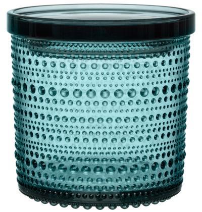 Iittala-Kastehelmi-Dose-Hoehe-11-4-cm-Seeblau