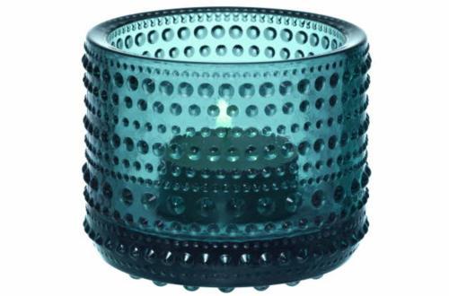Iittala-Kastehelmi-Teelichtleuchter-Seeblau