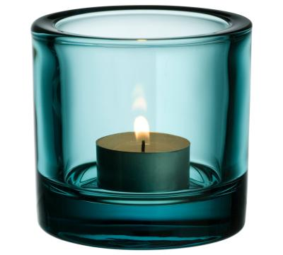 Iittala-Kivi-Teelichtleuchter-Seeblau