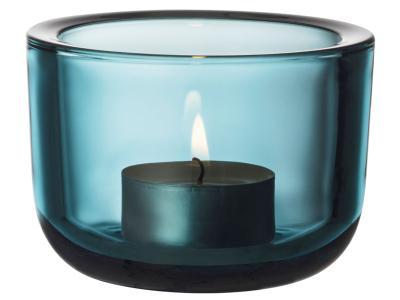 Iittala-Valkea-Teelichtleuchter-Seeblau