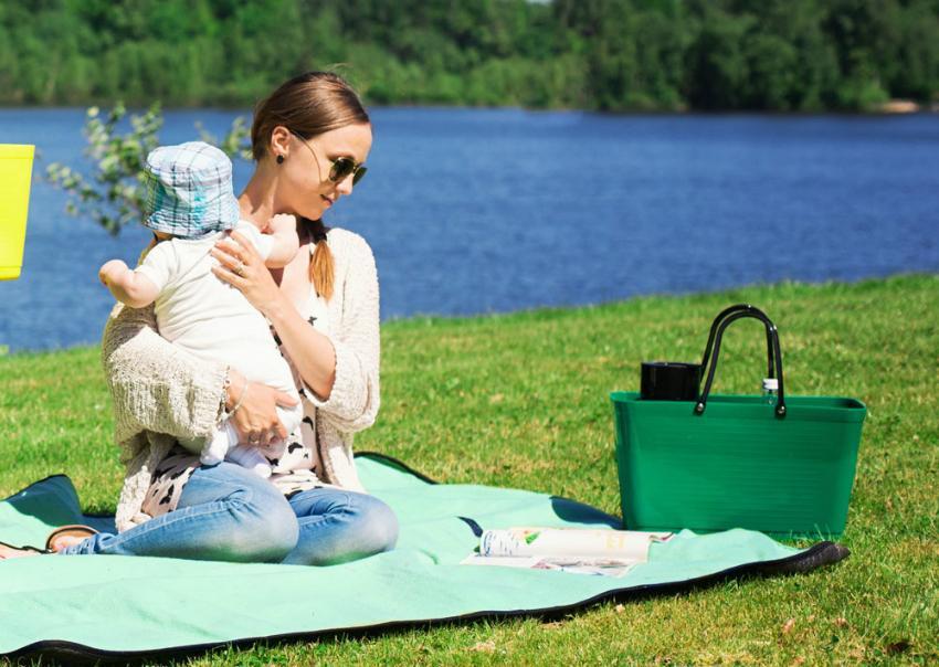Hinza Shopper & Strandtasche Öko-Kunststoff