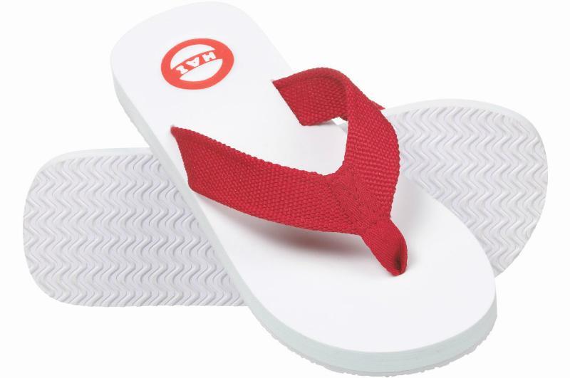 Nokian Footwear Hai Zehenlatschen rot, weiß