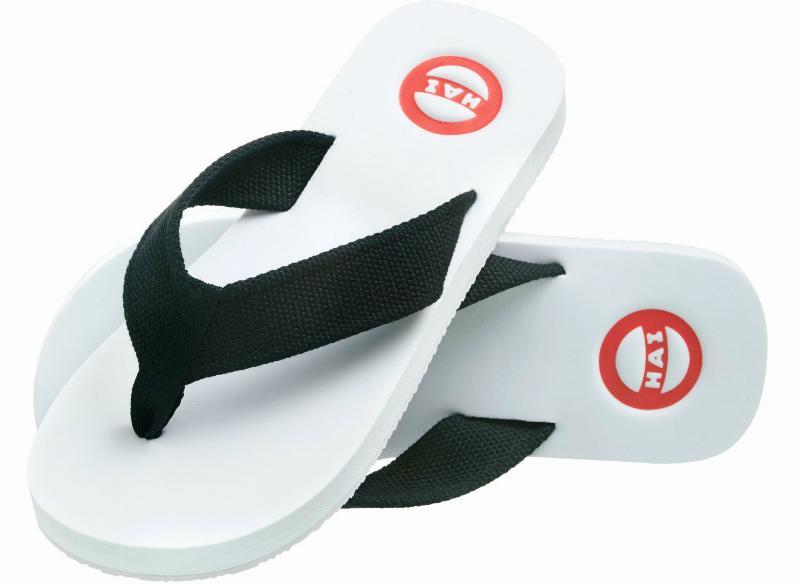 Nokian Footwear Hai Zehenlatschen schwarz, weiß