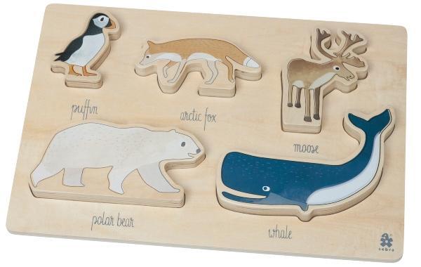 Sebra-Arctic-Animals-Puzzle-Holz-14385