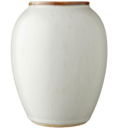 Bitz-Steingut-Vase-Hoehe-12-5-cm-creme