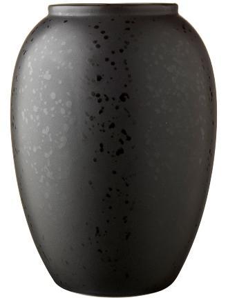 Bitz-Steingut-Vase-Hoehe-20-cm-schwarz