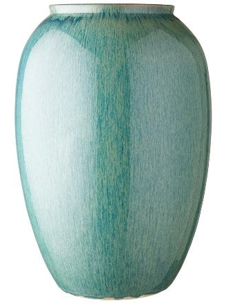 Bitz-Steingut-Vase-Hoehe-50-cm-gruen