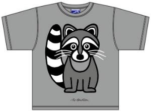 Bo-Bendixen-Kids-T-Shirt-grau-Waschbaer