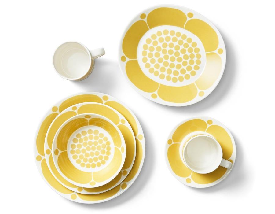 Arabia-Sunnuntai-Teller-OE-21-cm-gelb-cremeweiss-18444