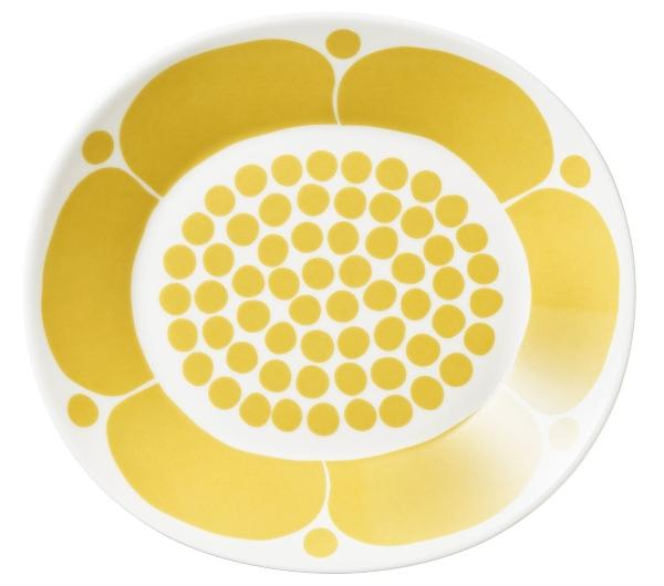 Arabia-Sunnuntai-Teller-oval-Laenge-25-cm-gelb-cremeweiss-18446
