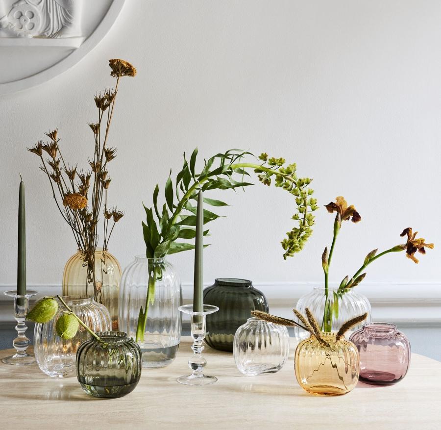 Holmegaard Primula Vase Hoehe 17,5 cm