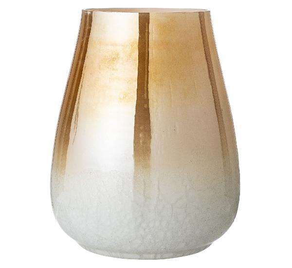 Bloomingville Vase Glas weiss, gold Hoehe 25 cm skandinavische fruehlingsdeko