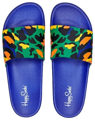 Happy-Socks-Unisex-Badesandale-Leopard