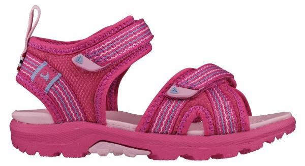 Viking Footwear Unisex Kinder Sandale Loppa farbige Sohle fuchsia kindersandalen-und-sneaker