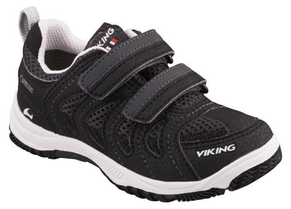 Viking Footwear Unisex Kinder Sneaker Cascade II GTX farbige Sohle schwarz