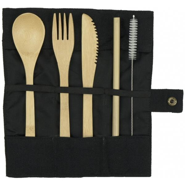 Yummii Yummii Besteck Bambusholz 5 tlg picknick-auf-skandinavisch