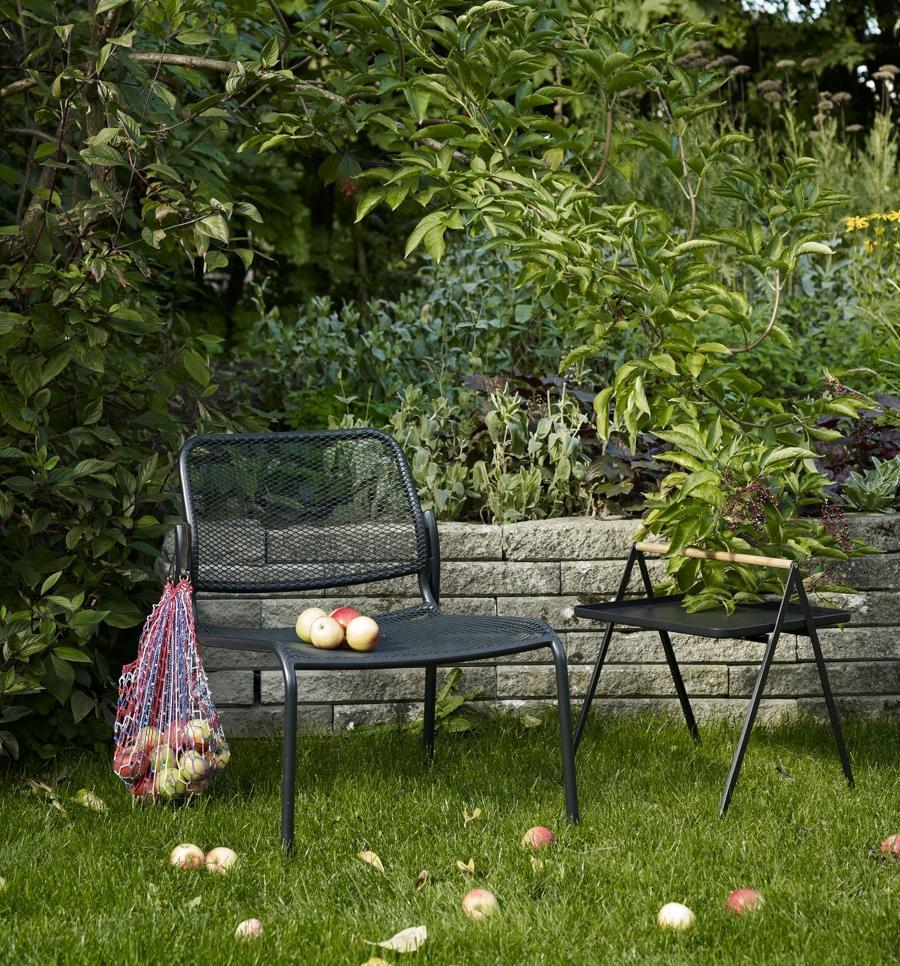 Skagerak By Your Side Outdoor Tisch 43x43 cm anthrazitschwarz