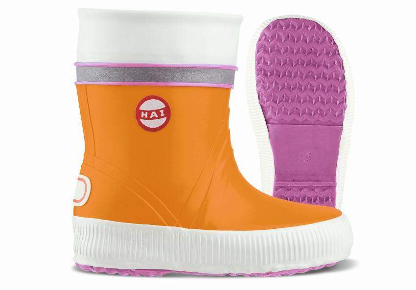 Nokian Footwear Kinder Gummistiefel Hai orange pink