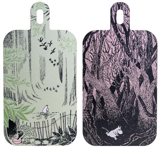 Muurla Mumin Originals in der Wildnis Schneidebrett Servierbrett 23x44 cm mit 2 Motiven