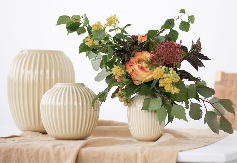 Kaehler Design Hammershoi Vase Hoehe 20 cm birke skandi-style