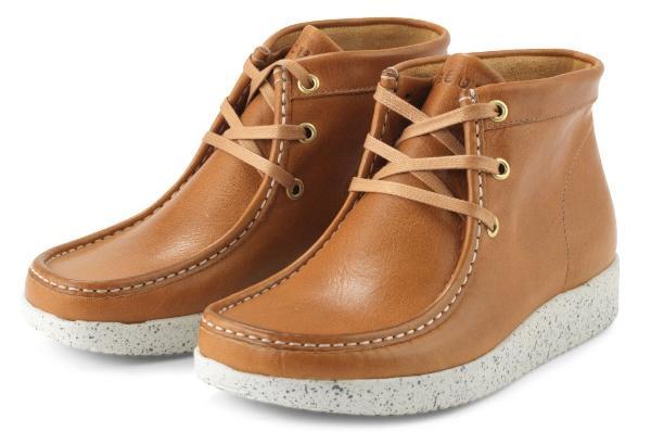 Nature-Footwear-Damen-Schnuerstiefel-niedrig-Glattleder-Emma-kastanie-weiss