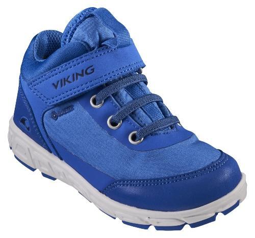 Viking Footwear Unisex Kinder Sneaker mit Reflektor Spectrum R Mid GTX kobaltblau marineblau