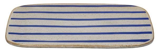 Lyngby Porcelæn DAN-Ild Platte 27x27 cm beige, blau