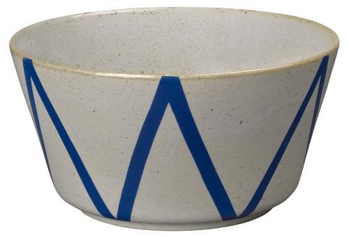 Lyngby Porcelæn DAN-Ild Schuessel 21 cm beige, blau