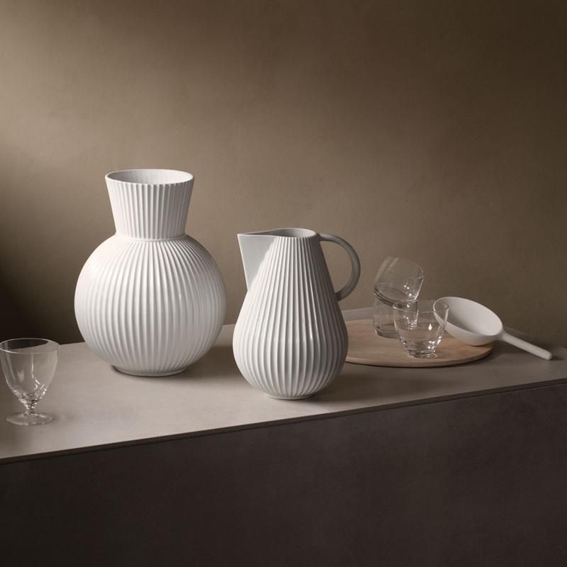 Lyngby Porcelæn Tura Krug Vase Hoehe 27,5 cm
