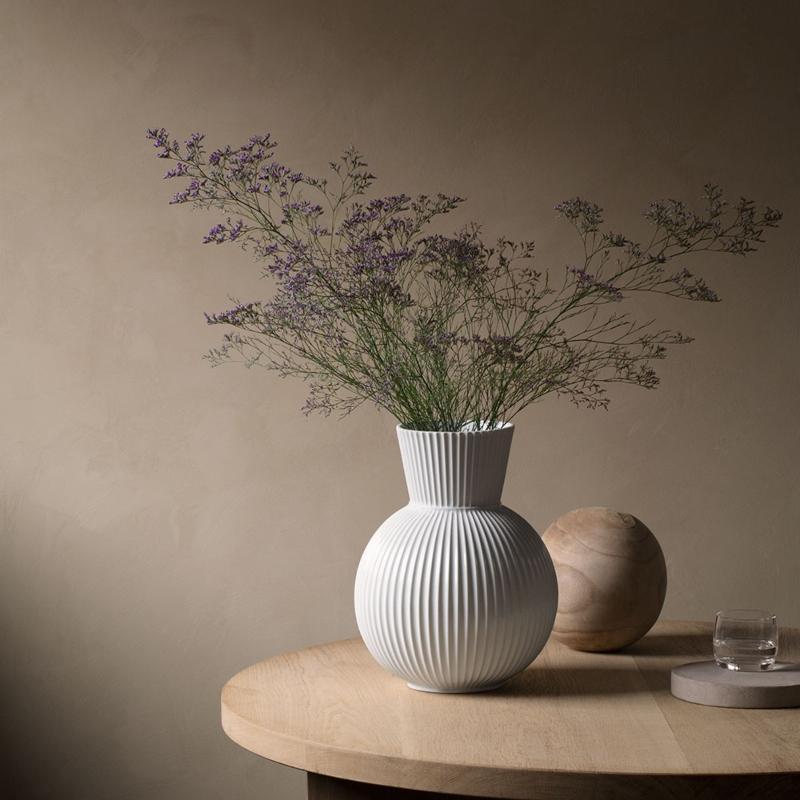 Lyngby Porcelæn Tura Vase Hoehe 34 cm