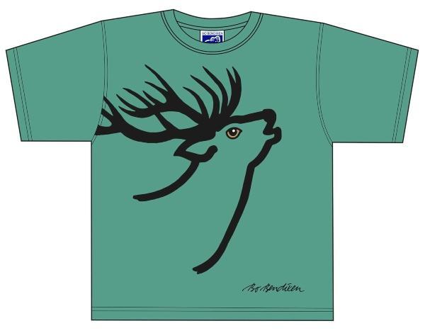 Bo-Bendixen-Unisex-T-Shirt-gruen-Hirsch