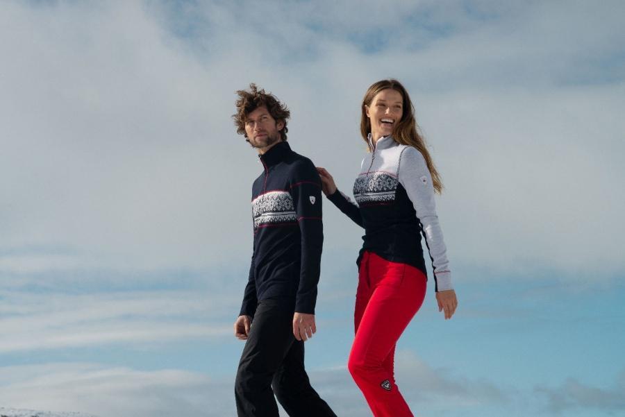 Dale of Norway Damen Merino Pullover mit Kragen Rondane norwegerpulli
