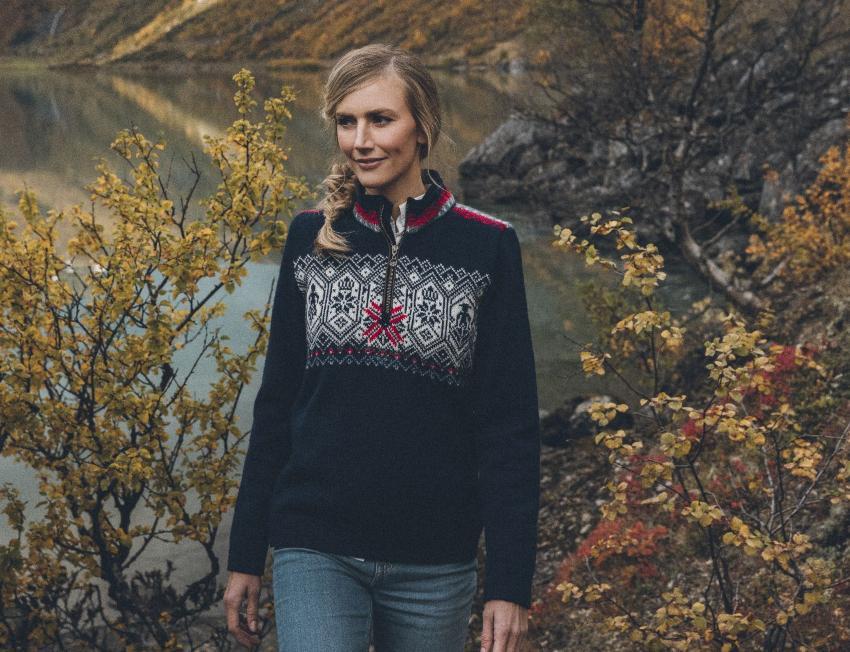 Dale of Norway Norge Damen Pullover navyblau - schöne Weihnachtsgeschenkideen