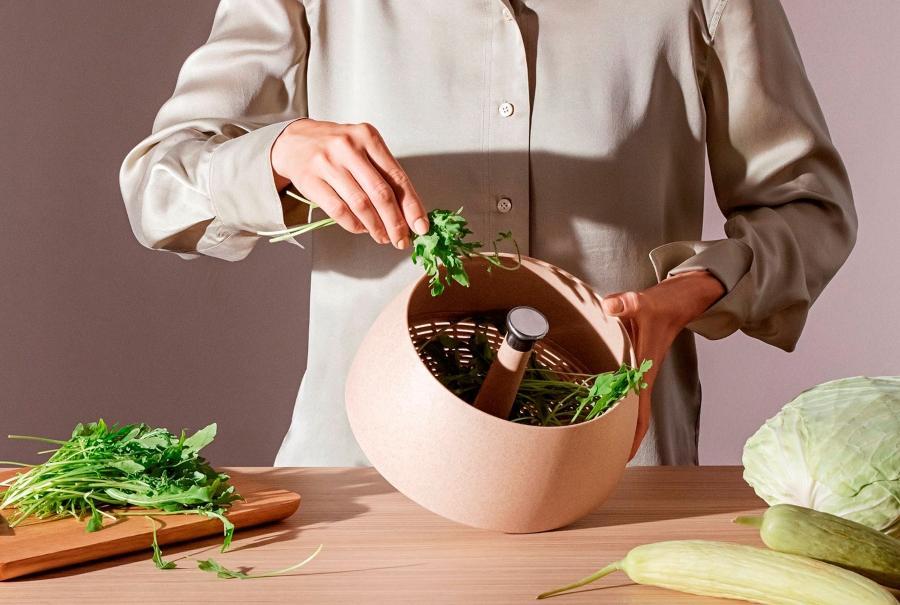 Eva Solo Green Tools Salatschleuder mit Abtropfsieb 24 cm
