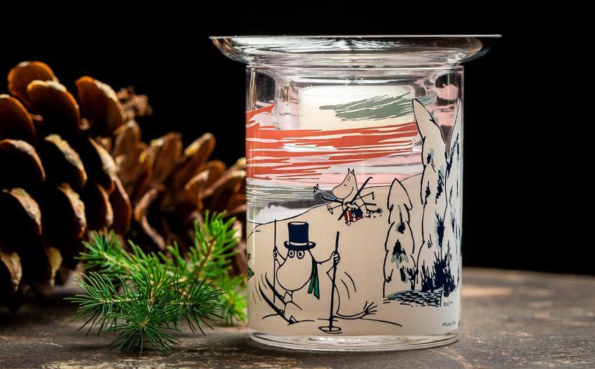 Muurla Mumin Winterzeit Teelichtleuchter - Skandinavische Winterdeko