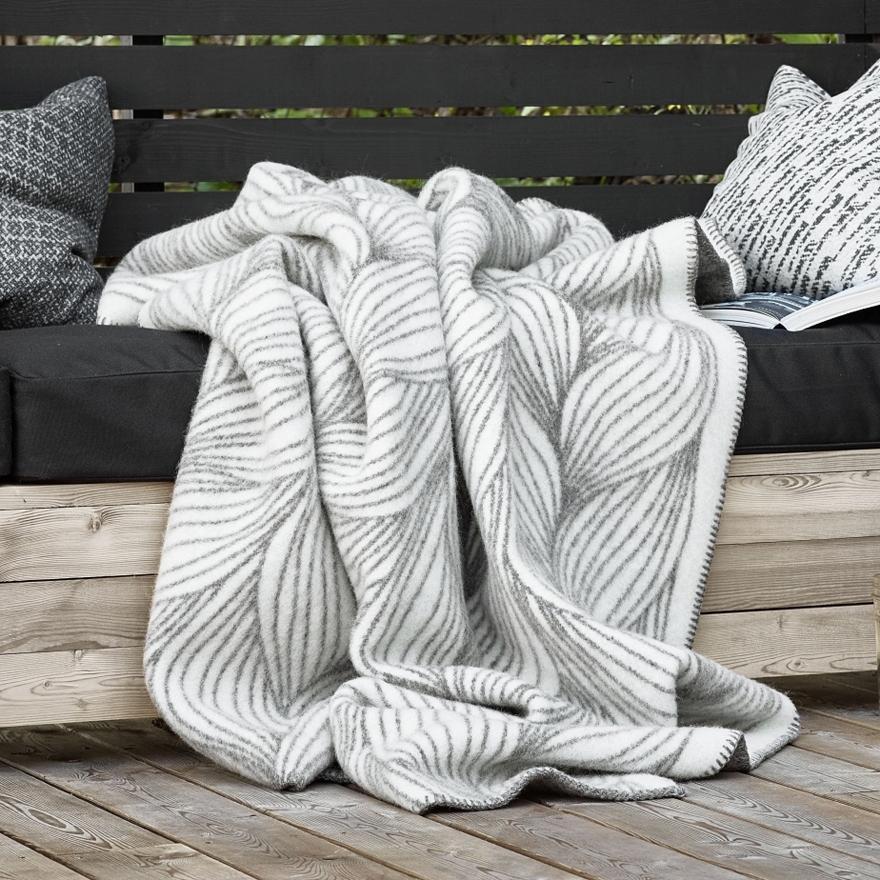 Roros Tweed Naturpledd Wolldecke 130x200 cm Flette