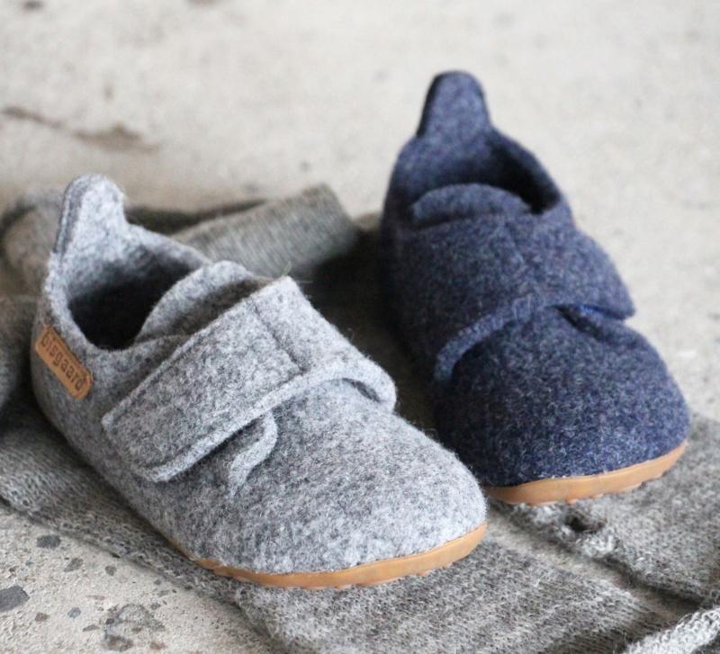Bisgaard Unisex Kinder Filzhausschuh Wool Casual