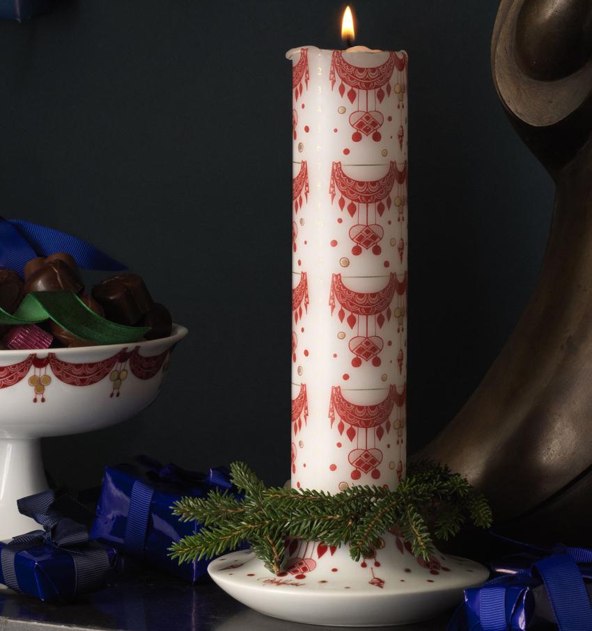 Bjørn Wiinblad Weihnachten Guirlande Kalenderkerze Ø 5 cm / Höhe 25 cm